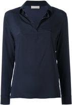 Le Tricot Perugia classic blouse - women - Silk/Elastodiene - XXL