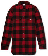 Vetements Oversized Checked Wool-blend Shirt - Red