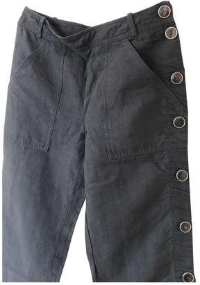 Hermes Black Linen Trousers for Women Vintage