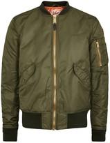 Schott Nyc American College Olive Bomber Jacket