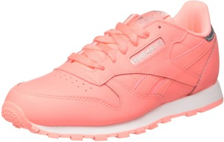 Reebok Girls Classic Leather Pastel Trainers