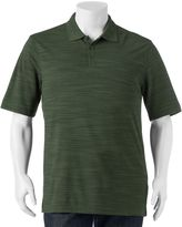 Haggar Big & Tall Classic-Fit Space-Dyed Textured Performance Polo