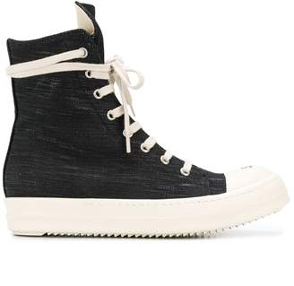 Rick Owens denim hi-top sneakers