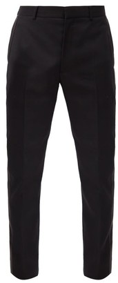Alexander McQueen Satin-stripe Wool Slim-leg Suit Trousers - Black