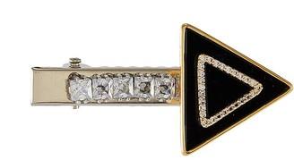Venna Crystal embellished arrow hair clip