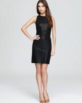 Aqua Dress - Perforated Leather