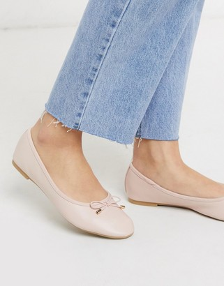 Accessorize bow ballet flats in pink