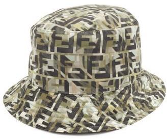 Fendi Ff-monogram Technical Bucket Hat - Mens - Multi