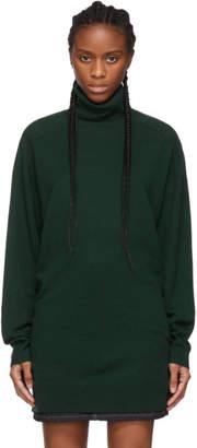 6397 Green Cashmere Turtleneck Sweater
