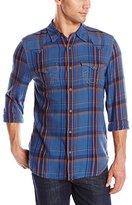 True Religion Men's Lightweight Flannel Western Shirt