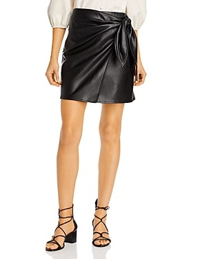 Lucy Paris Faux Leather Mini Skirt - 100% Exclusive