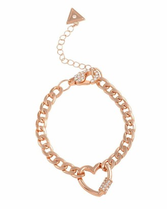 GUESS Link Pave Heart Bracelet