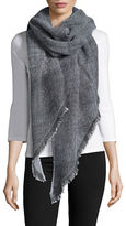 Lord & Taylor Oversized Checked Asymmetrical Wrap Scarf