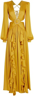 PatBO Ruffled Cut-Out Gown