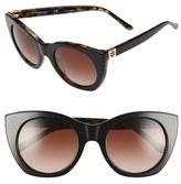 Tory Burch Women's 52Mm Cat Eye Sunglasses - Brown Gradient