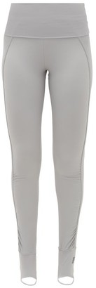 adidas by Stella McCartney Foldover-waist Stirrup Leggings - Womens - Grey