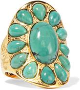 Aurelie Bidermann Gold-plated Turquoise Ring - 52