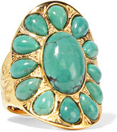Aurelie Bidermann Gold-plated Turquoise Ring - 56
