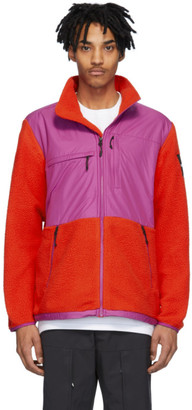 The North Face Red and Purple Fleece Denali Jacket