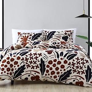 Marimekko Suvi Brown Comforter Set, Full/Queen