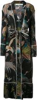 Off-White birds print pyjama robe - women - Silk - XL