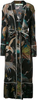 Off-White birds print pyjama robe - women - Silk - XS