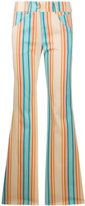C'Est La V.It Rainbow-Stripe Flared Trousers