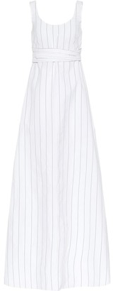 Plan C Striped poplin maxi dress