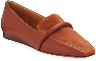 Veronica Beard Grier Suede & Leather Slip-On Loafers