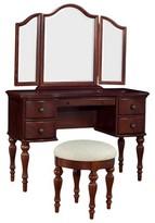 Powell Company Marquis Cherry Vanity-Mirror & Bench