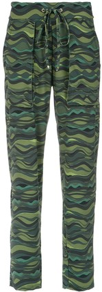 AMIR SLAMA Wave Print Drawstring Pants