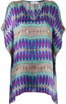 BRIGITTE v-neck printed beach dress