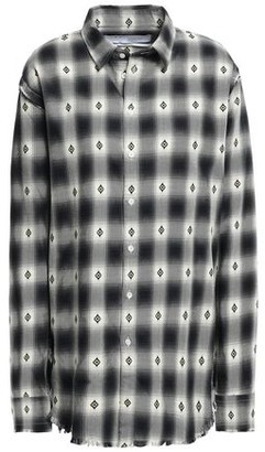 IRO Mondatta Frayed Checked Cotton-jacquard Shirt