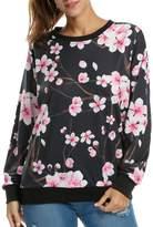 ACEVOG Women Sweaters Sweatshirt 3D Personality Digital Print Long Sleeve Pullovers