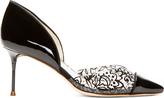 Webster Sophia Black Lace Miranda D'Orsay Heels