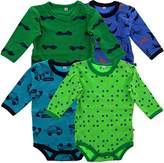 Pippi Baby Boys Body Long Sleeve AO Printed 4 Pack Polo Shirt