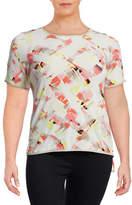 Calvin Klein Plus Short Sleeve Print Top