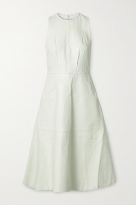 REMAIN Birger Christensen Portia Leather Midi Dress - White