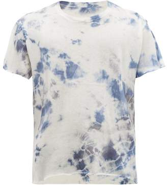 The Elder Statesman Tie-dyed Cashmere-blend T-shirt - Mens - Grey Multi