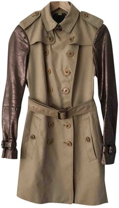 Burberry Beige Leather Trench Coat for Women