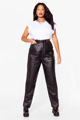 Nasty Gal Womens Slit's Now or Never Coated Plus Jeans - Black - 16