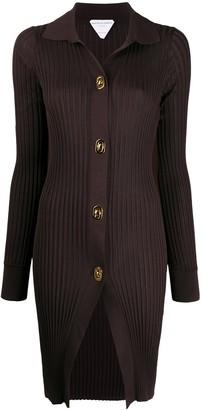 Bottega Veneta Long-Length Ribbed-Knit Cardigan