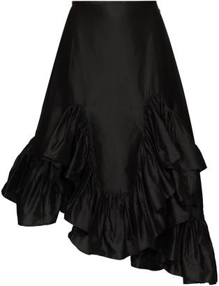 Marques Almeida Asymmetric Silk Skirt