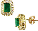Effy Brasilica Emerald, Diamond and 14K Yellow Gold Stud Earrings
