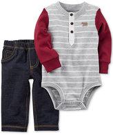 Carter's 2-Pc. Cotton Bodysuit & Jeans Set, Baby Boys (0-24 months)