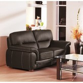 Hokku Designs Leather Loveseat Upholstery: Black