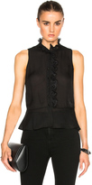 Derek Lam 10 Crosby Ruffle Collar Top