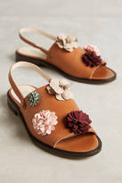 Paco Gil Suede Flower Sandals