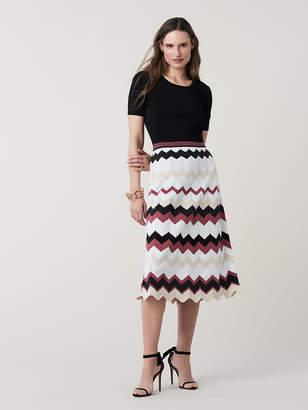 Diane von Furstenberg Gaia Nylon Knit Midi Dress