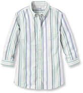 L.L. Bean Easy-Care Washed Oxford Tops, Three-Quarter-Sleeve Multistripe